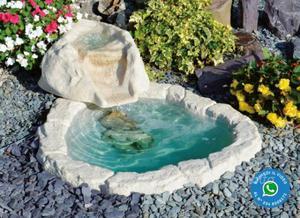 Cascata con laghetto posot class for Laghetto vetroresina usato