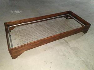 Letto antico restaurato 200 x 90 con rete