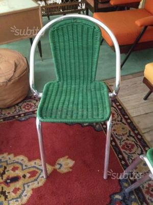 4 sedie medea anni 50 design posot class for Sedie da terrazzo