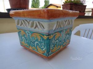 Vaso portaombrelli in ceramica di caltagirone posot class - Portaombrelli in ceramica bianca ...