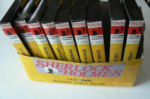 9 VHS - SHERLOCK HOLMES - Video Rai