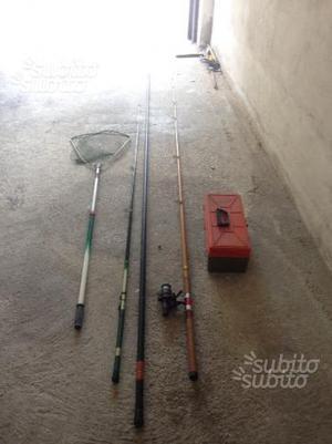 Canne da pesca e attrezzatura