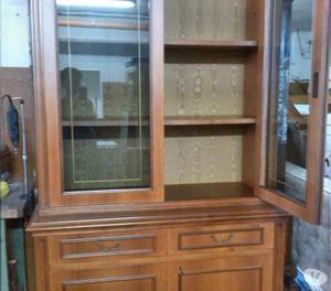 Credenza legno di qualità 2 vetrine 2 ante e 2 cassetti