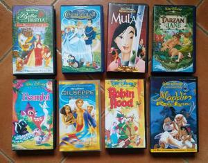 Lotto di 8 videocassette cartoni disney