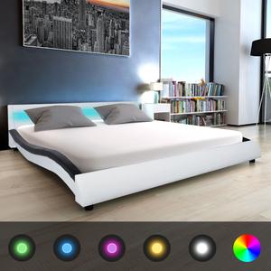 vidaXL Letto LED Memory Foam Pelle Sintetica