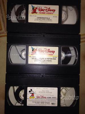 6 videocassette originali Disney prive di scatola