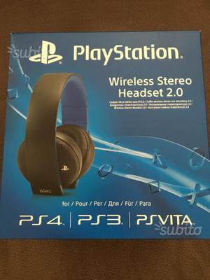 Cuffie wireless nuove originali Sony PS4 PS3