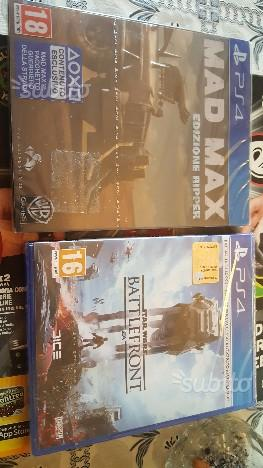 Mad max e star wars battlefront ps4 NUOVI