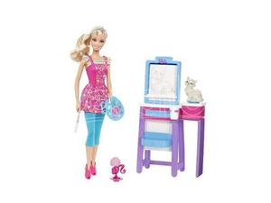 Mattel - Barbie V Barbie I can be pittrice (Giocattolo)
