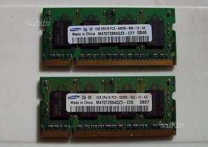 Sodimm RAM SAMSUNG ddr2 2RX16 pcs 1gb