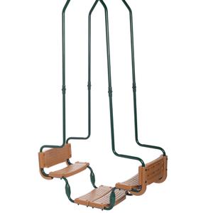 Swing King Doppia Altalena con Gancio Quadrato Verde