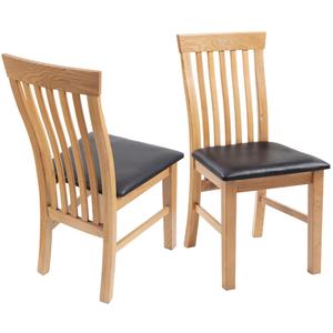 vidaXL Set 6 pz Sedia da tavola in ecopelle con telaio legno