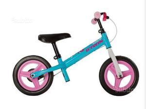 """Bici senza pedali run ride """" azzurro-rosa"""