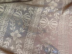 Copriletto antico - cotone ad uncinetto