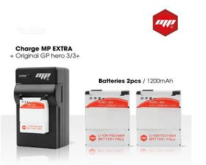 MP EXTRA-2x batteria per gopro 3, 3 black mAh