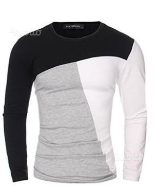 Maglia maglietta uomo 2XL manica lunga leggera