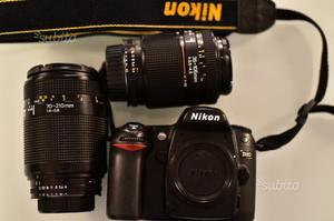 Nikon d80 con due obiettivi