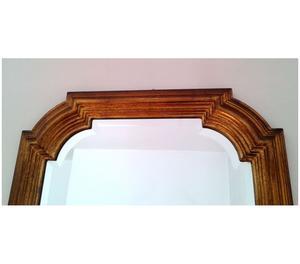 Specchio in legno con cornice ramata