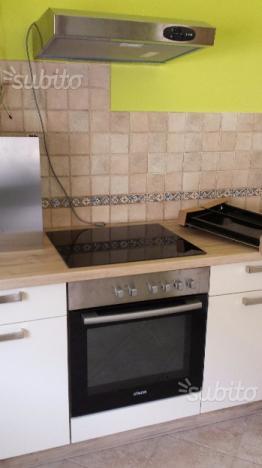 Cucina mobile angoliera stufa forno piano cottura posot - Cucina vetroceramica ...
