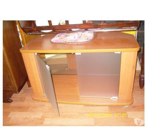 Mobile ingresso ciliegio e vetro posot class - Costruire mobile per televisione ...
