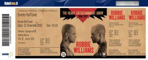 2 Biglietti Robbie Williams VERONA - PRATO