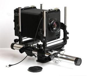 Banco ottico Toyo 4x5 + obbiettivo e accessori