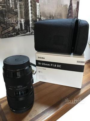Sigma  f 1.8 DC Canon