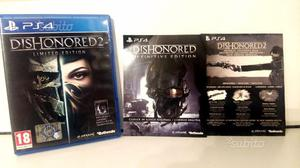Dishonored 2 LIMITED EDITION ps4 (2 giochi)