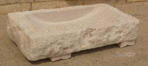 Lavabo anticato in Pietra di Trani