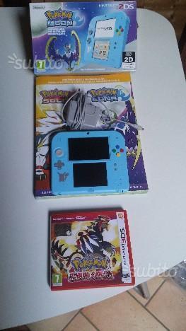 Nintendo 2DS + pokemon luna + rubino omega + guida