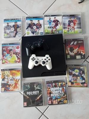 Ps3 slim 160 Gb+2 dualshock +giochi