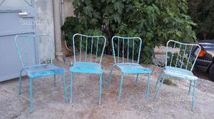 Sedie da esterno giardino in ferro anni 50