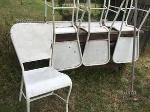 Sedie in ferro vintage francesi