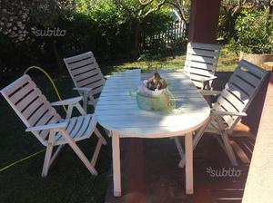 Tavolo e 4 sedie da esterno in ferro
