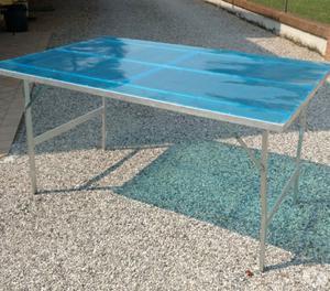 4 tavoli usati con gambe ripiegabili 150x100cm posot class for Tavoli ripiegabili