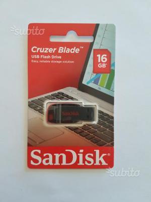 Chiavetta USB per drive cruzer blade 16gb nuova