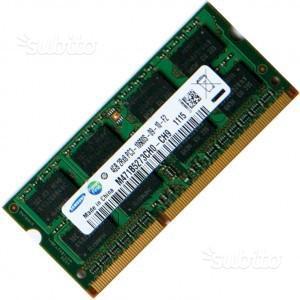 MEMORIA RAM 4gb pc3 SODIMM NOTEBOOK