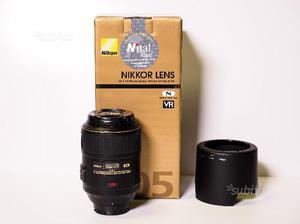 Nikon af-s vr micro-nikkor 105mm f2.8 g-if-ed