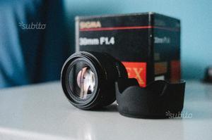 Nikon D + Sigma 30mm 1.4