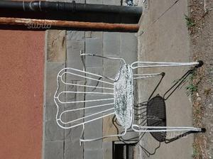 Sedie in metallo da giardino