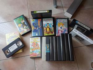 9 video cassette VHS di fiabe.