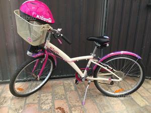 Bicicletta B-Twin 9/12 anni con casco