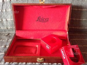 Scatola in legno Leica con basi