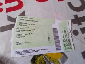 Vendo 2 biglietti per il concerto di Daddy Yankee a Cagliari