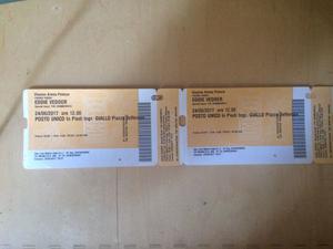 Vendo 2 biglietti per il concerto di Eddie Vedder a Firenze