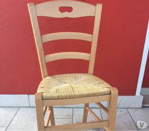Antiquariato sedia impagliata a mano posot class - Sedia impagliata ...