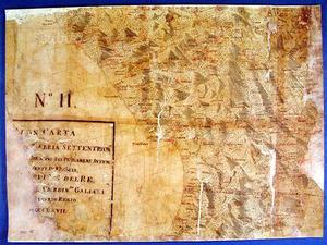 Calabria antica mappa Cartapecora Aragonese
