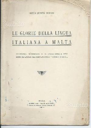 Le glorie della lingua italiana a Malta,