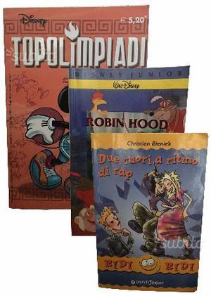 Libri per bambini: 2 Disney e 1 Giunti Junior