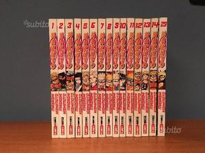 Manga Naruto Serie Rossa n. da 1 a 14 e n. 29